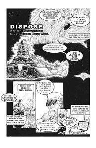 dispose short comic cover page by diego vidal oneshi press anthology 04
