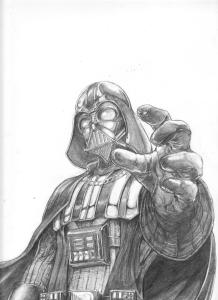 artwork by andre short darth vader oneshi press