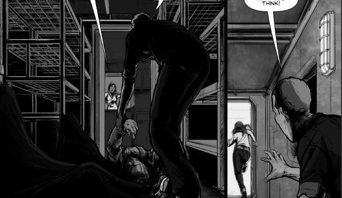 two panels breaking point andre short oneshi press anthology 03