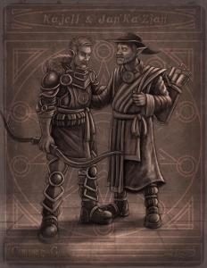 kajell and jan'ka'zian by jayel draco children of gaia