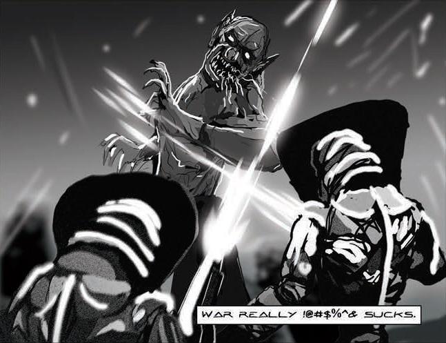 strikeforce dracula by charley macorn lucas peverill comic book panel oneshi press