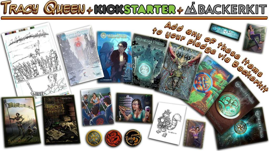 tracy queen kickstarter add-ons oneshi press