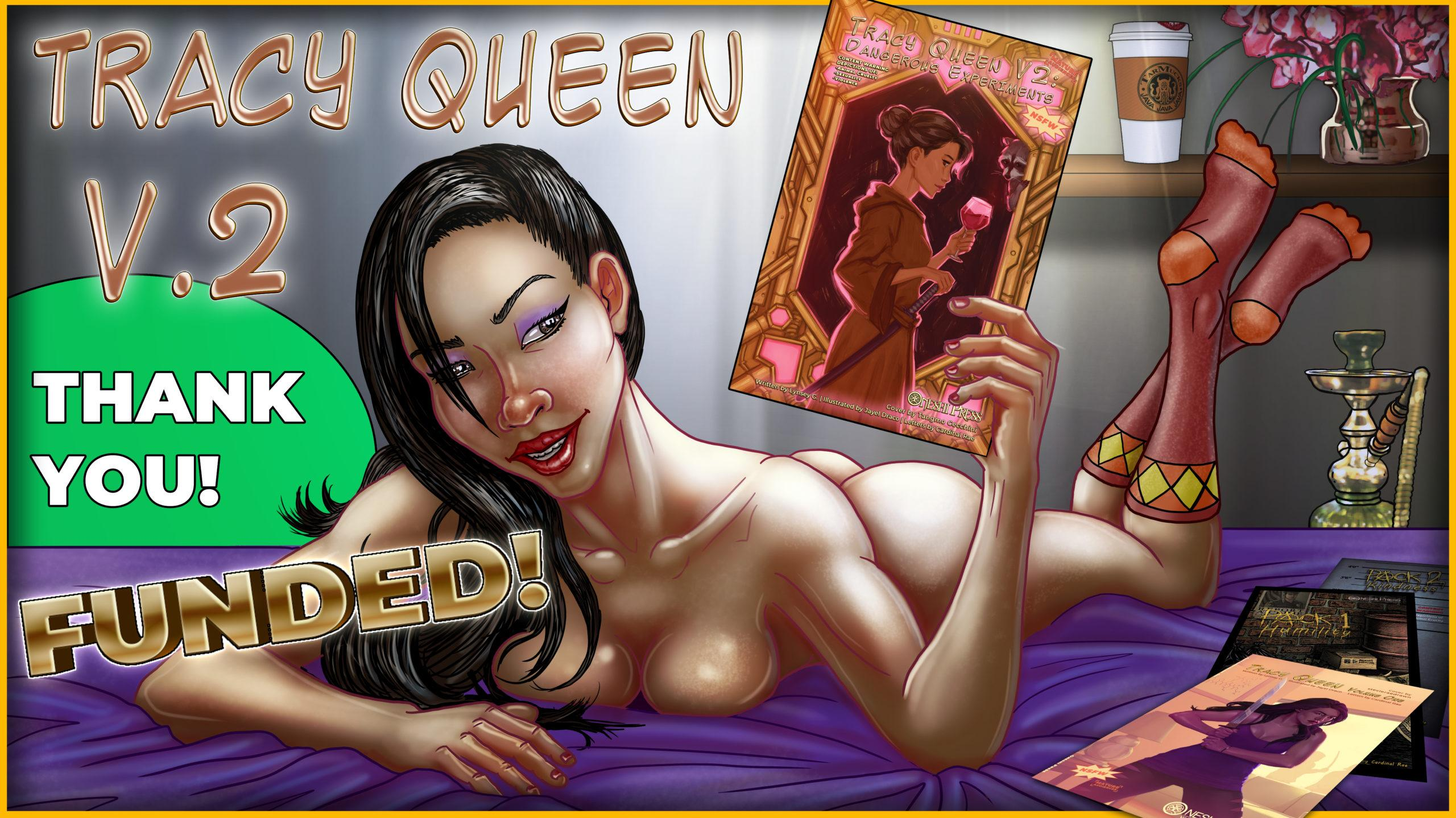 """""""Tracy Queen, Volume 2: Dangerous Experiments"""" successfully funded on kickstarter"""