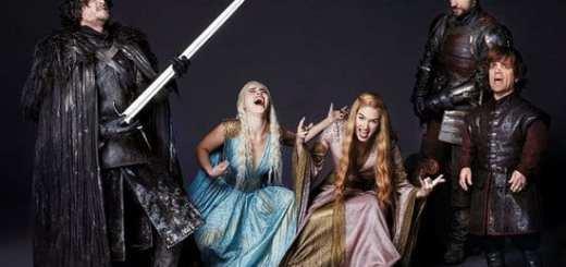Peter Dinklage, Emilia Clarke, Kit Harington, Nikolaj Coster-Waldau & Lena Headey from Game of Thrones on the Sets of Entertainment Weekly Magazine Photoshoot