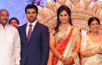 Sridevi, Salman Khan & Tabu at Ram Charan Teja & Upasana Kamineni's Wedding
