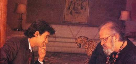 Aamir Khan Playing Chess with Shammi Kapoor