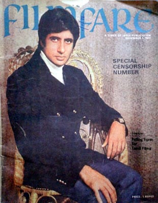 Amitabh Bachchan first ever Filmfare cover December 1972