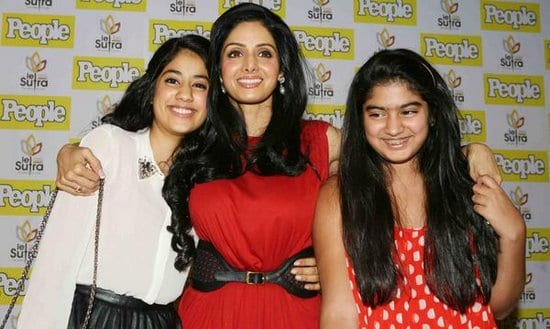 Sridevi with daughters Jhanvi & Khushi on People Magazine