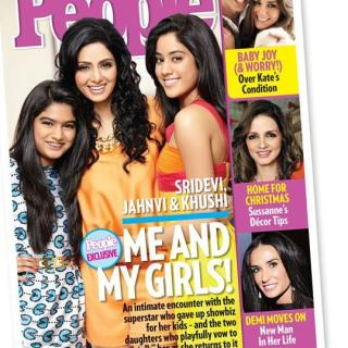 Sridevi with daughters Jhanvi & Khushi on People Magazine