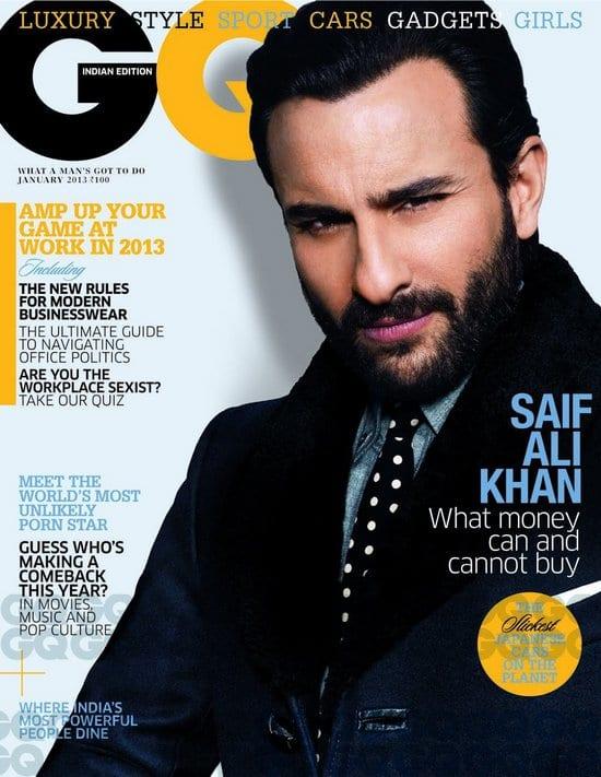 Saif Ali Khan on GQ Magazine