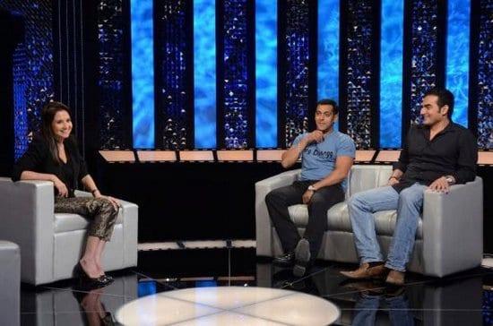 Salman Khan and Arbaaz Khan on the Front Row