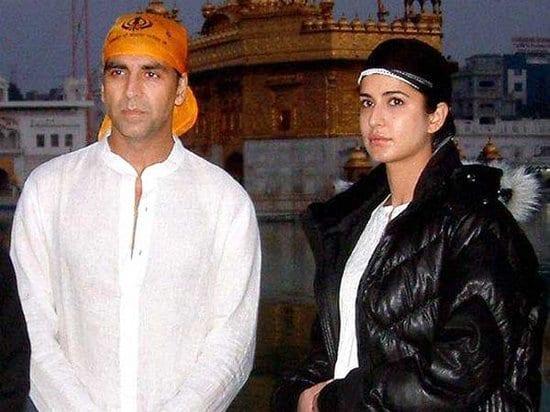 Akshay Kumar and Katrina Kaif - With and Without Makeup