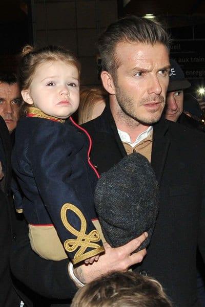 Victoria Beckham, David Bechkam, Brooklyn, Harper Seven and Romeo Beckham Spotted in London