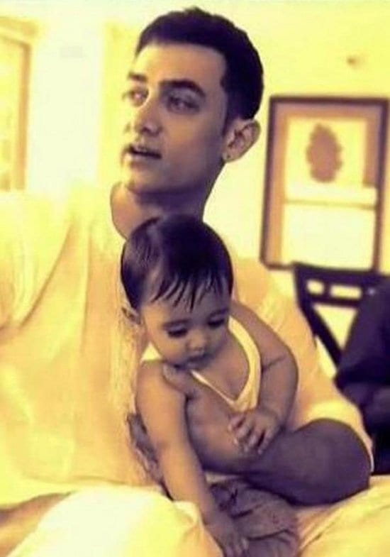 Aamir Khan Spotted with his son Azad Rao Khan