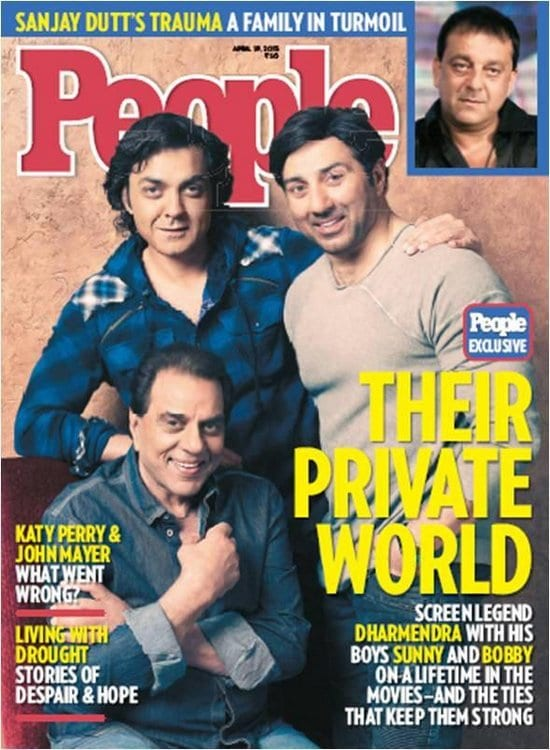Dharmendra, Sunny Deol and Bobby Deol on People Magazine
