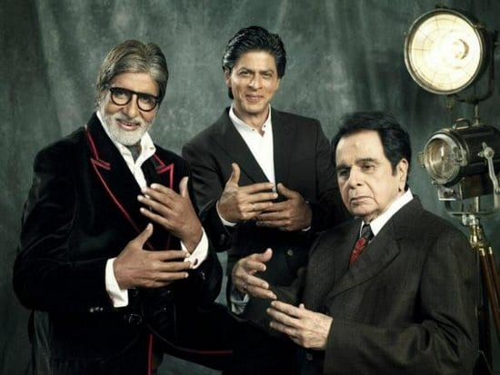 Dilip Kumar, Amitabh Bachchan and Shah Rukh Khan on Filmfare Magazine
