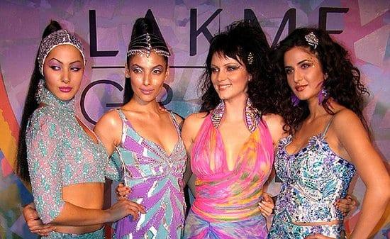 Katrina Kaif and Yana Gupta on the Ramp at the Lakme Fashion Show
