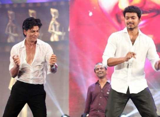 Shah Rukh Khan, Kamal Haasan, Vijay and Prabhu at Vijay