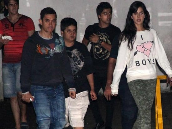 Aamir Khan and Katrina Kaif Spotted on the sets of Dhoom 3