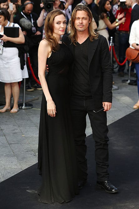 Angelina Jolie and Brad Pitt at the Premiere of World War Z in London