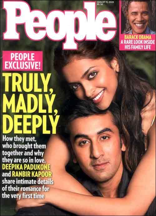 Deepika Padukone and Ranbir Kapoor on People Magazine
