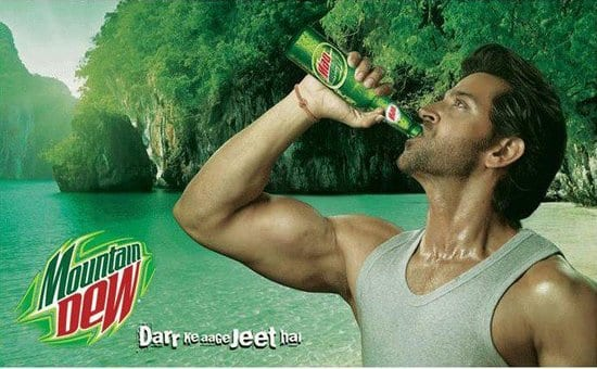 Hrithik Roshan in Mountain Dew Ads