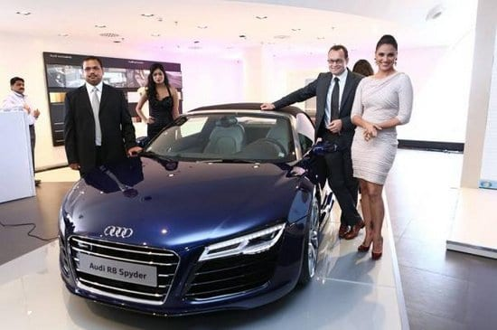 Lara Dutta Unveils Audi Showroom in Bhubaneshwar