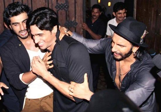 Siddharth Malhotra, Ranveer Singh at Arjun Kapoor's Birthday Party