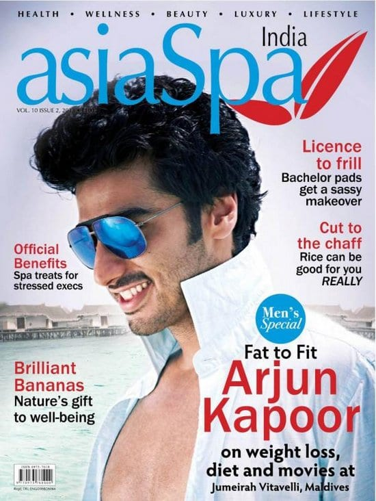 Arjun Kapoor on asiaSpa Magazine