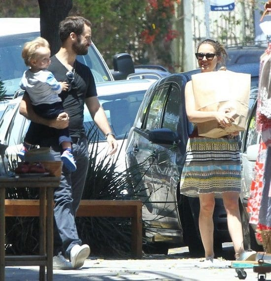 Natalie Portman, her husband Benjamin Millepied Spotted with their son Aleph