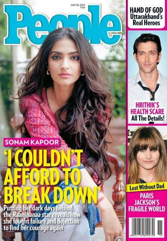 Sonam Kapoor on People Magazine