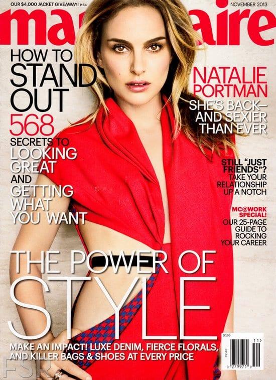 Natalie Portman on Marie Claire Magazine