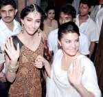 Sonam Kapoor and Jacqueline Fernandez Celebrate Diwali