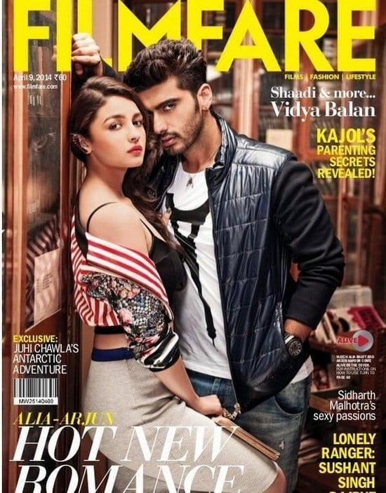 Alia Bhatt and Arjun Kapoor on Filmfare Magazine
