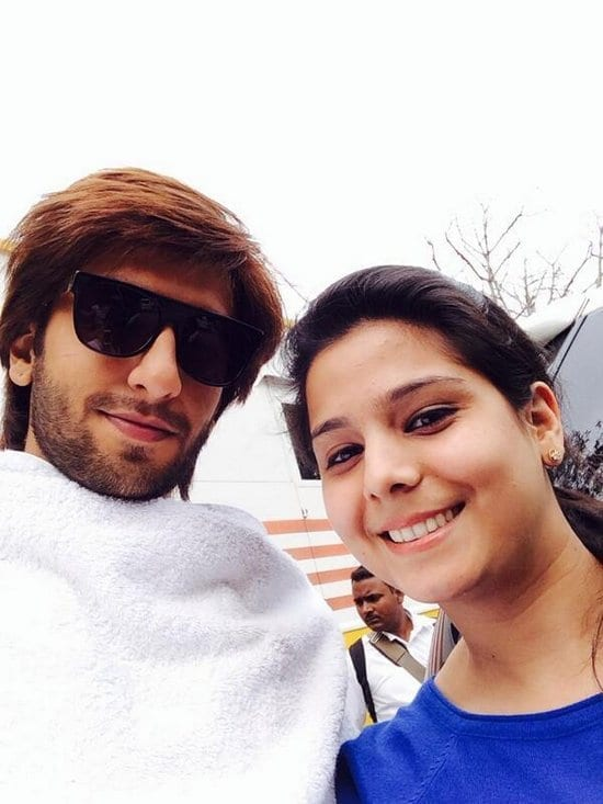 Ranveer Singh and Parineeti Chopra on the sets of Kill Dill
