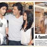 Shah Rukh Khan, Gauri Khan, Suhana Khan and Aryan Khan Spotted