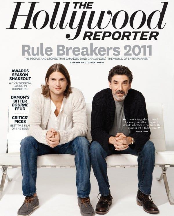 Ashton Kutcher & Chuck Lorre on The Hollywood Reporter Magazine