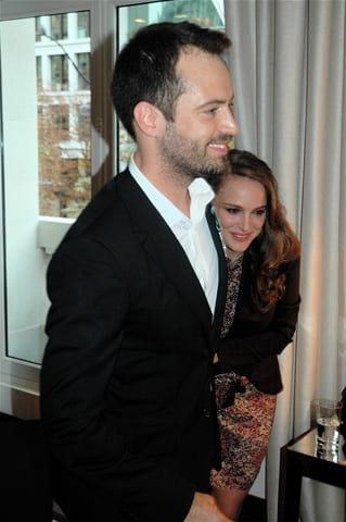 Benjamin Millepied and Natalie Portman at the Royal Monceau