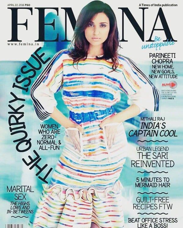 Parineeti Chopra on Femina Magazine