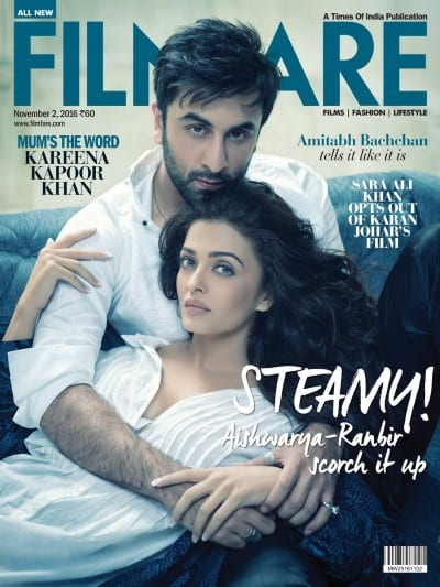 Aishwarya Rai Bachchan and Ranbir Kapoor on Filmfare Magazine