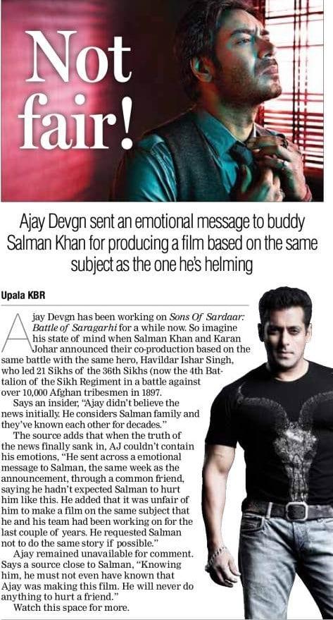 Ajay Devgan gets emotional on Salman Khan because he signed a film with Karan Johar
