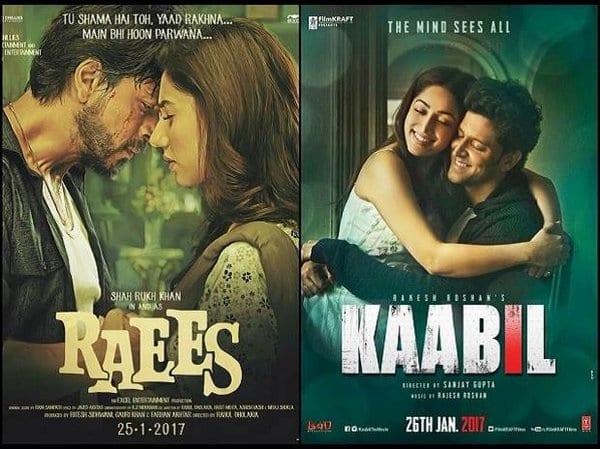 Box Office Battle - Hrithik Roshan's Kaabil vs Shah Rukh Khan's Raees
