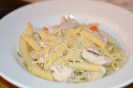 Crock-pot Rosemary Chicken Noodle Soup