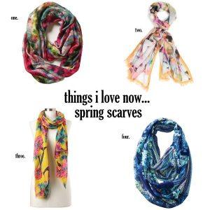 spring floral scarves