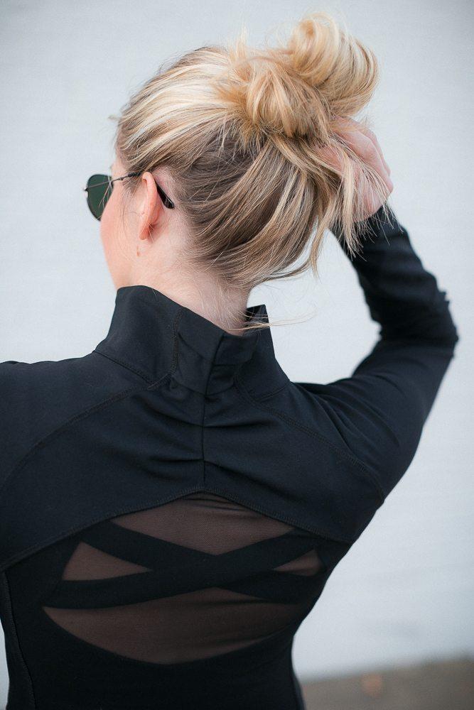 black open back jacket-style squared clothing