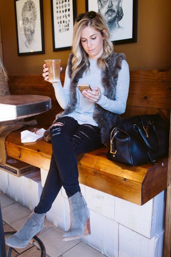 One-Small-Blonde-Coffee-Black-Skirt-0252