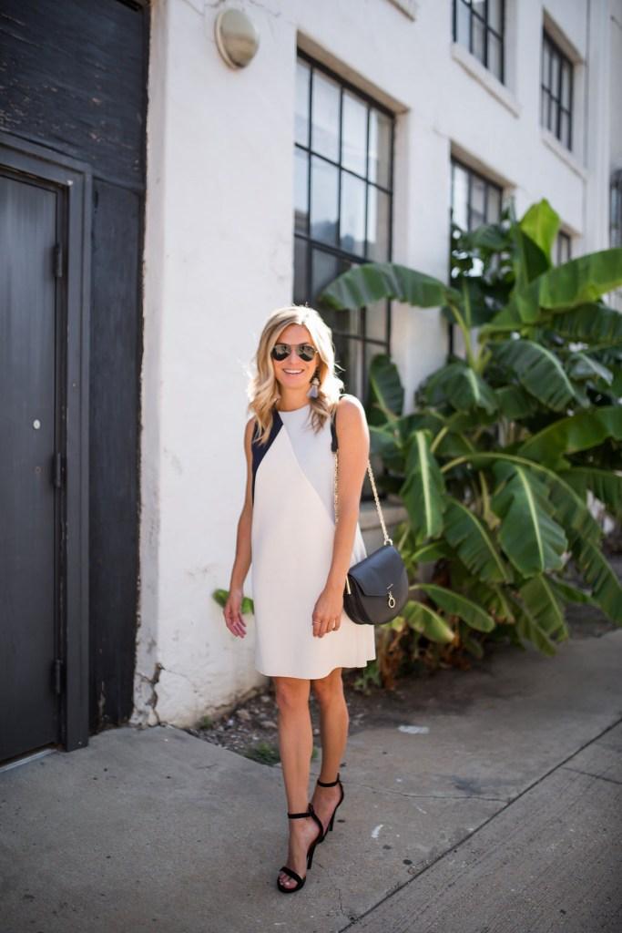 topshop color block shift dress - brooke burnett - nordstrom sale dresses