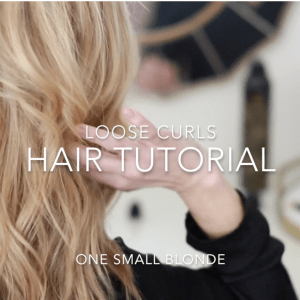 LOOSE CURLS HAIR TUTORIAL...