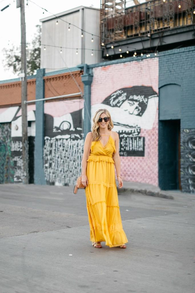 yellow maxi dress, dallas fashion blogger, spring color trend 2017, brooke burnett