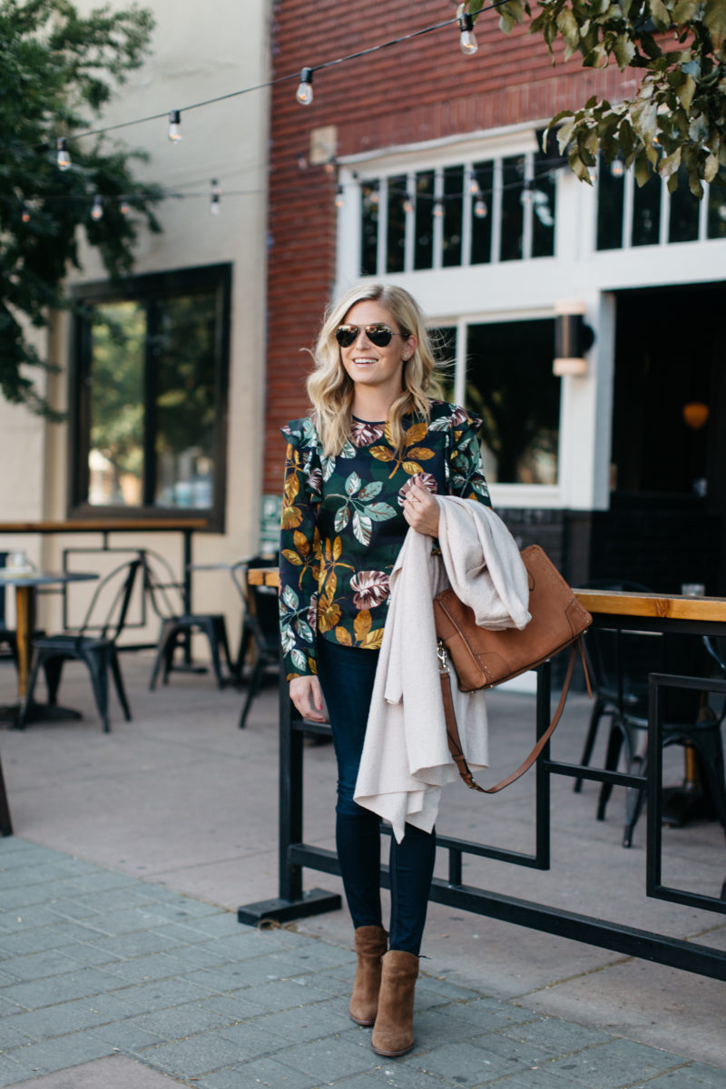 style blogger, one small blonde, long sleeve blouse